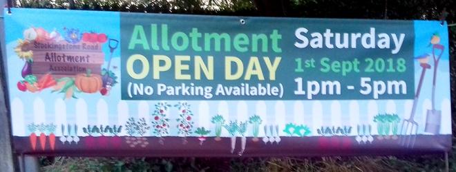 Allotment Open Day 2018 banner