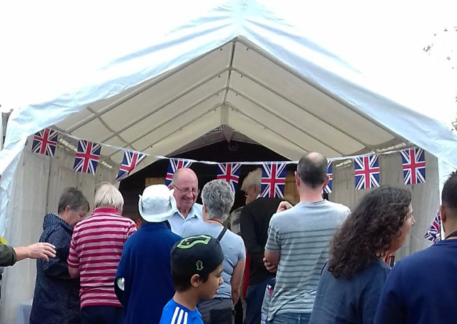 Bunting was a new addition this year to the marquee.