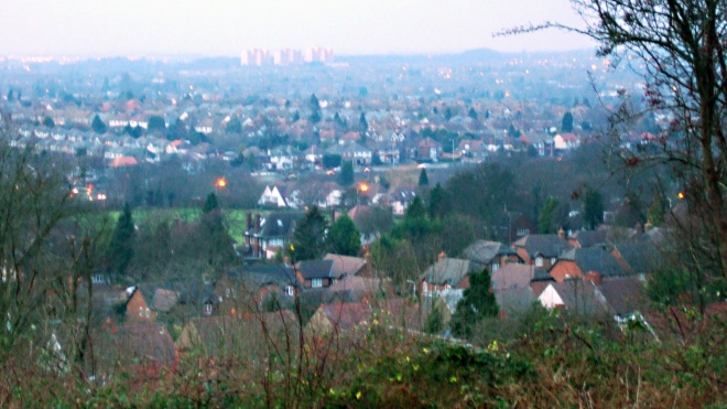 An autumn view of Luton in the Lea Valley from the Stockingstone site