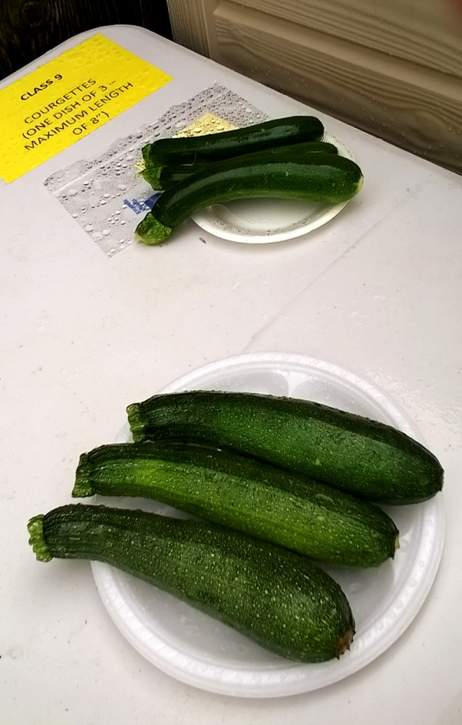 Courgette Category: Only two entries, but both of a very high standard.