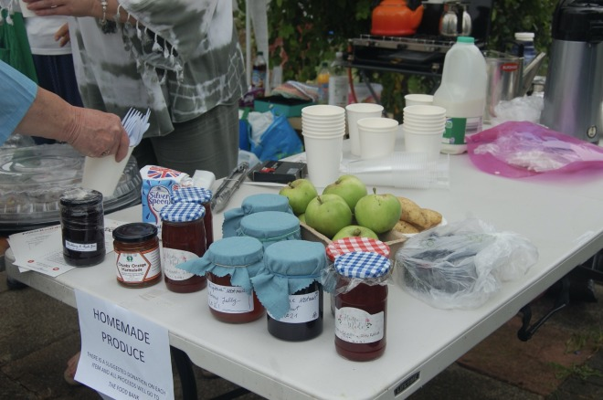 Preserves were popular. Proceeds went to charity